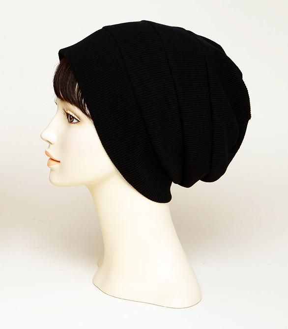 皱褶针织帽(Black)