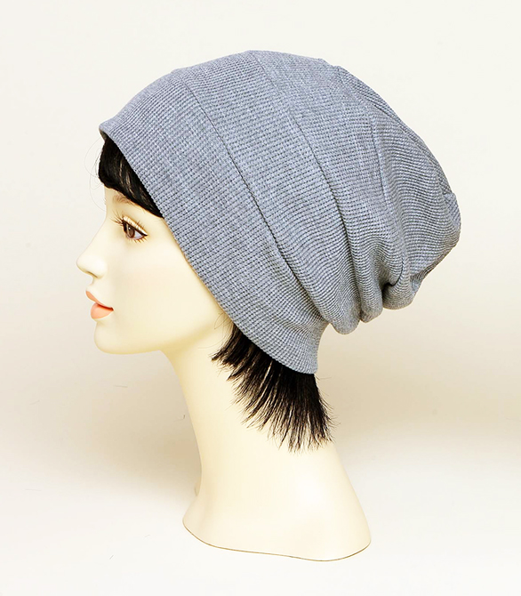 Tiered Waffle Watch Cap(Gray)