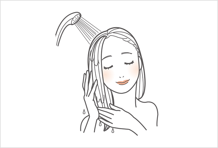 Rinsing thoroughly